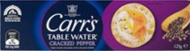 CRACKERS WATER CRACKED PEPPER 125G CARRS (12)